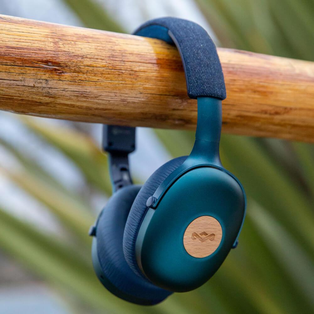 Audífonos Bluetooth Positive Vibration 2 XL azul TWS de The House of Marley
